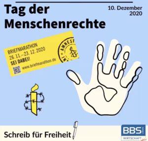 Briefmarathon von Amnesty International – wir sind dabei