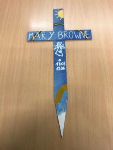 BBS Lingen Wirtschaft beteiligt sich an Aktion mit Kreuzen für tote Kinder