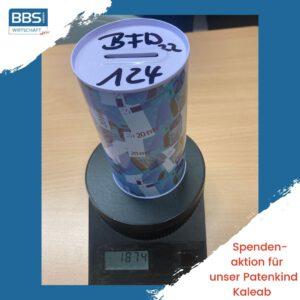 Read more about the article Fast zwei Kilo Cent-Stücke: BFW2-2 gewinnt Aktion für Patenkind Kaleab